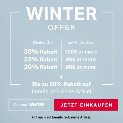 Winter Sale - Bis zu 30% Rabatt