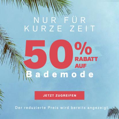 50% Rabatt auf Bademode