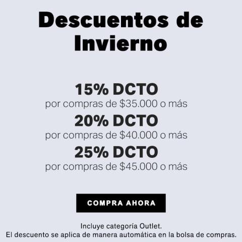 Descuentos de Invierno hasta 25%  DCTO