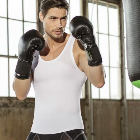 Leo Crew Neck Seamless Compression Tank