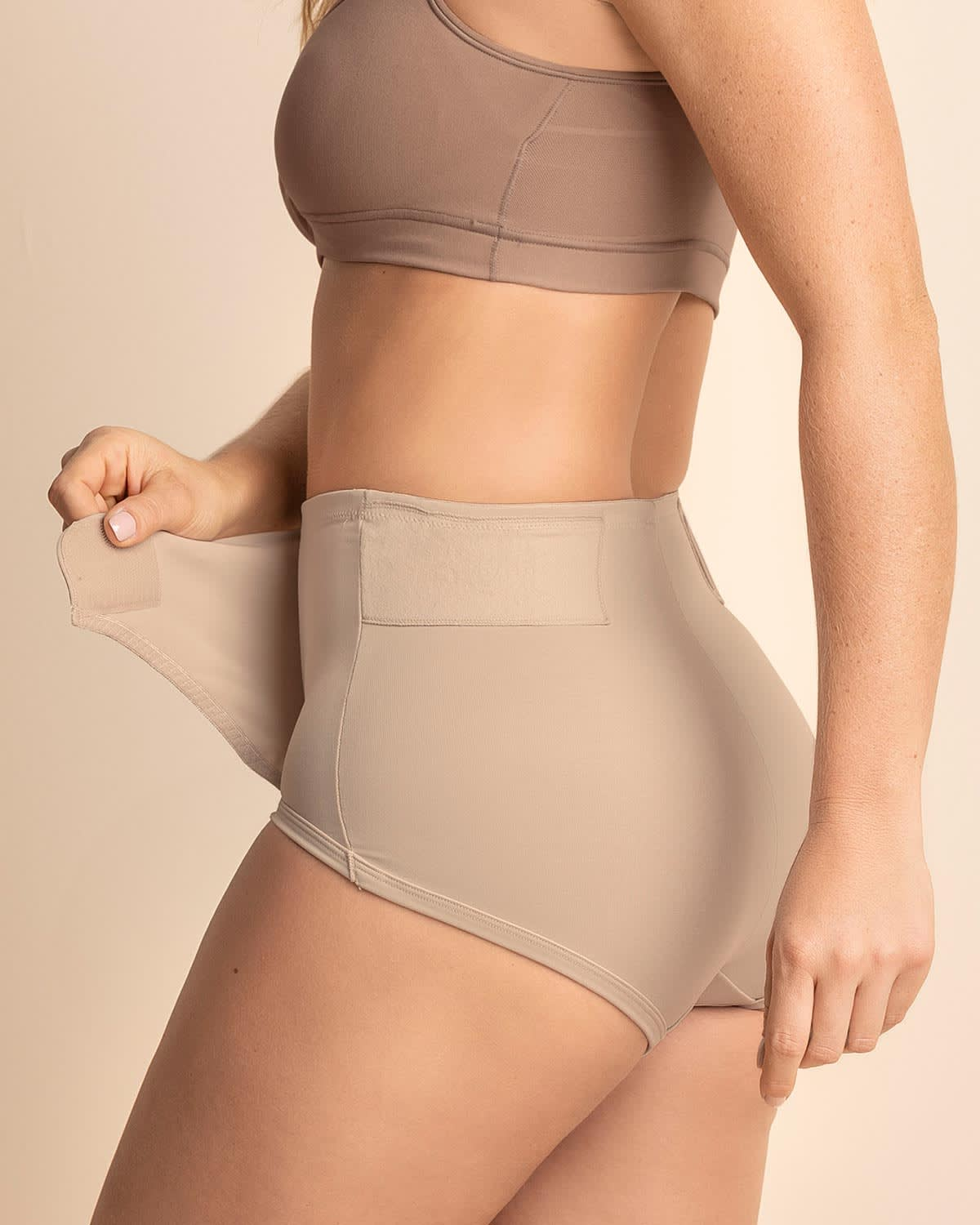 Firm Compression Postpartum Panty with Adjustable Belly Wrap - Doctor Recommended
