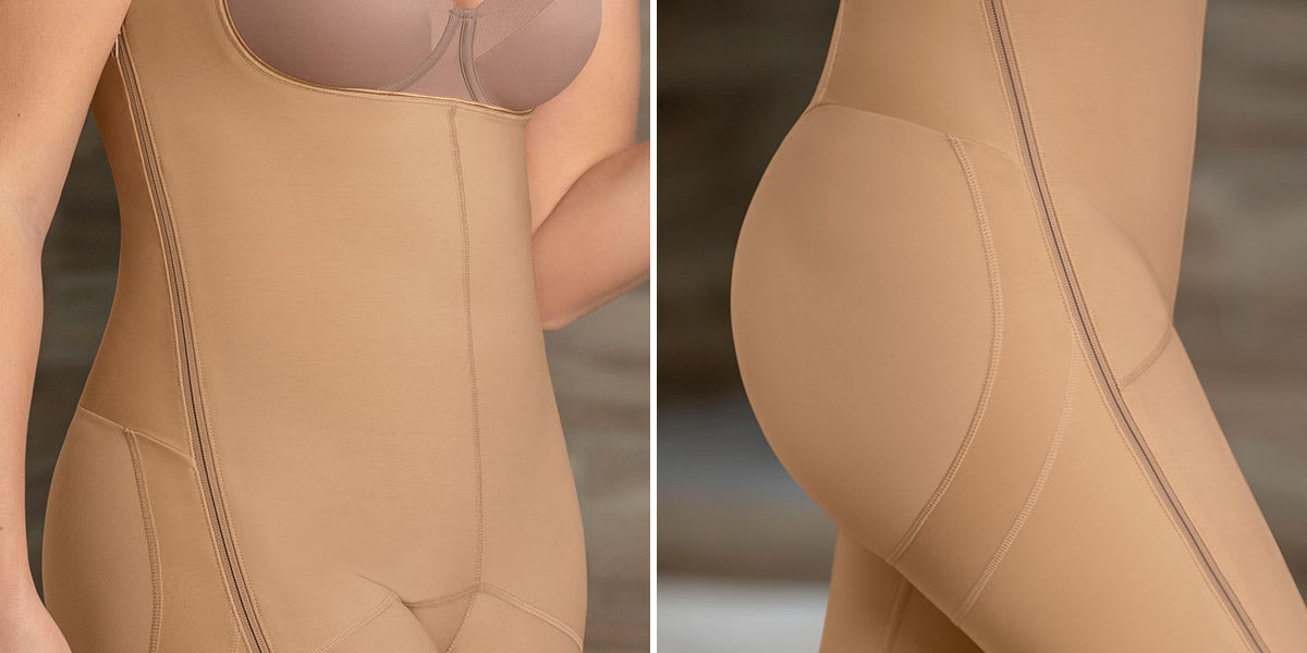 closeup of tummy tuck garment - Leonisa