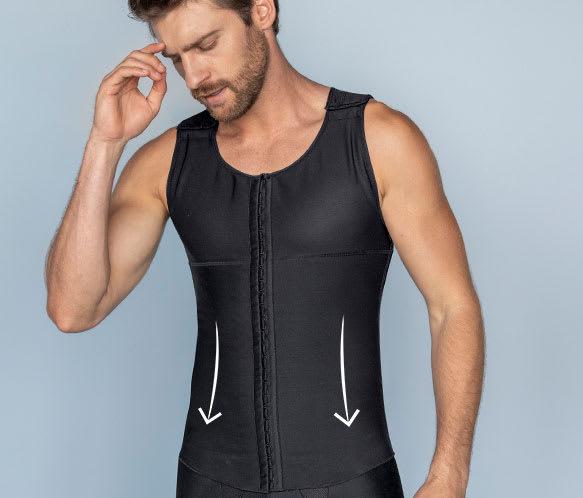 Post-Surgical Firm Compression Shaper Vest for Men - Leo