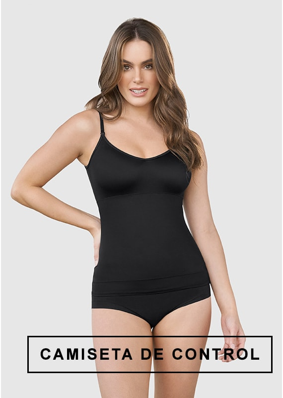 Camiseta de control de abdomen y espalda - una figura moldeada al instante - Leonisa