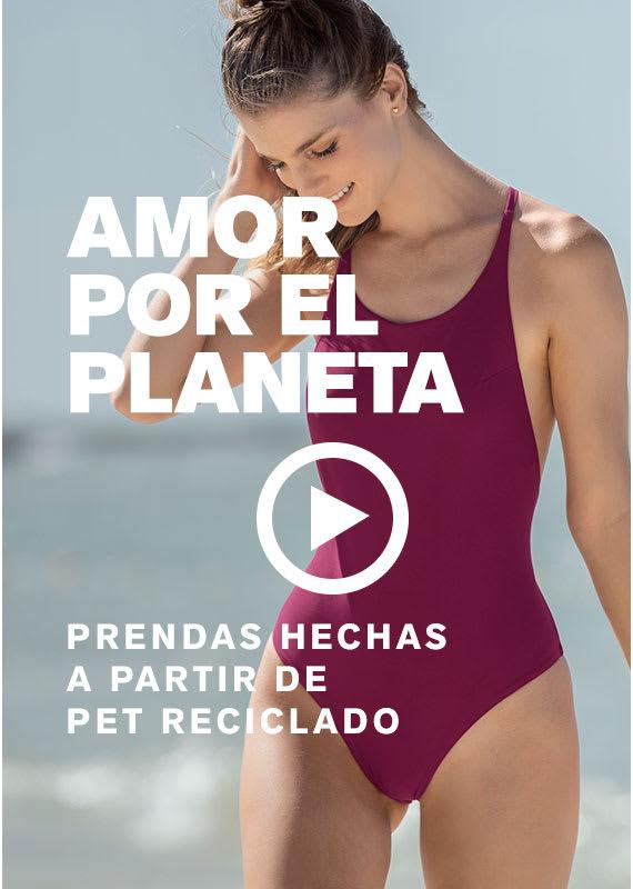 Vestidos de baño hechos con redes recicladas del mar - Leonisa