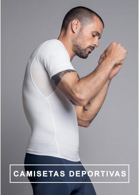 Camisetas deportivas de compresion y reducción - Leo