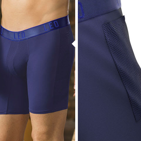 Long Athletic Boxer Brief with Side Pocket