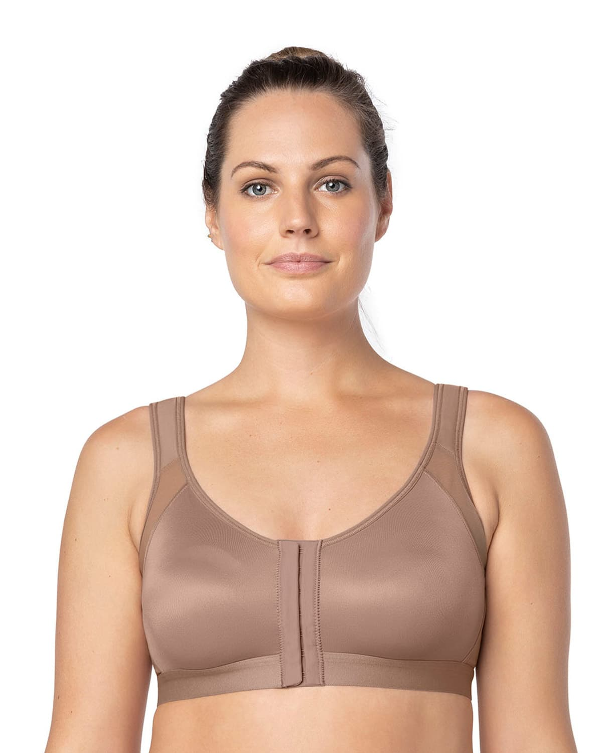 223e56a6a9b Back Support Posture Corrector Wireless Bra with Adjustable Front Closure