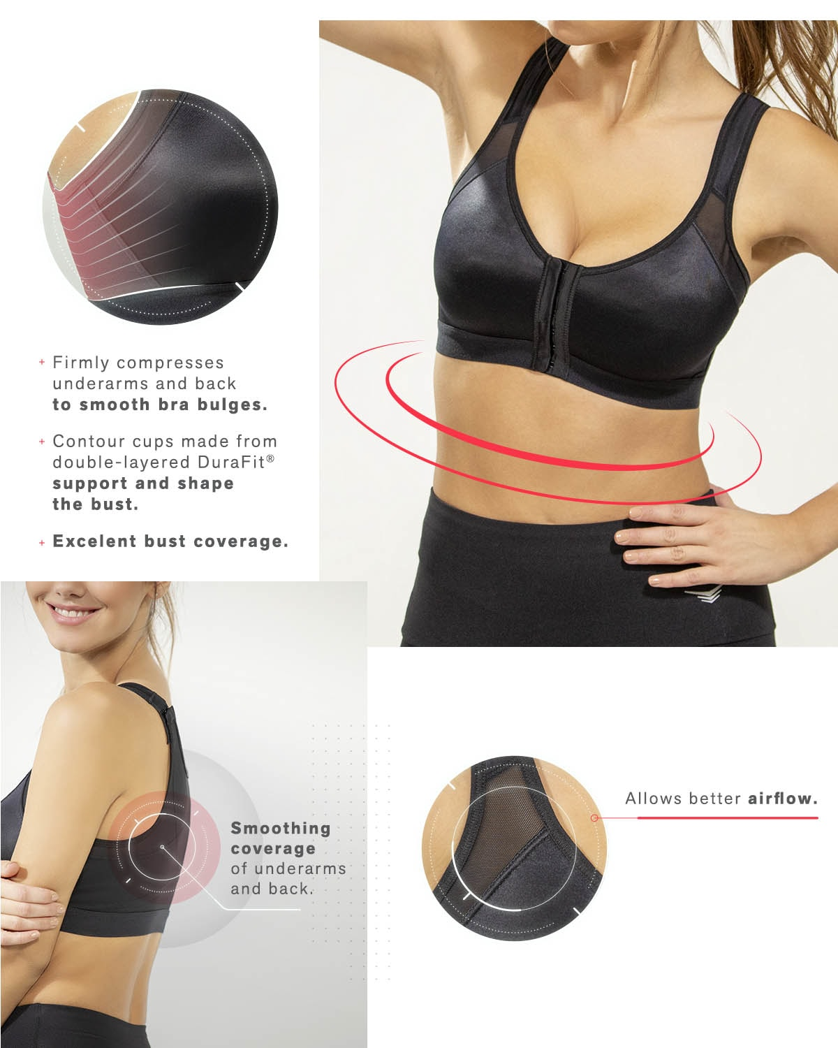 9183a3af5 Back Support Posture Corrector Wireless Bra - Multi Functional