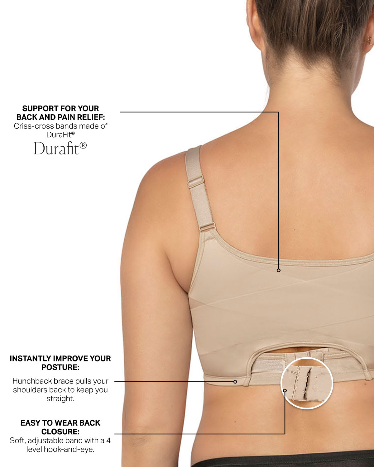 3d64849658a Perfect Everyday Posture Corrector Cami Bra