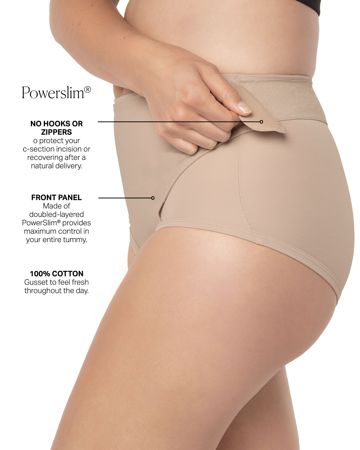 c4a5906027 Firm Compression Postpartum Panty with Adjustable Belly Wrap