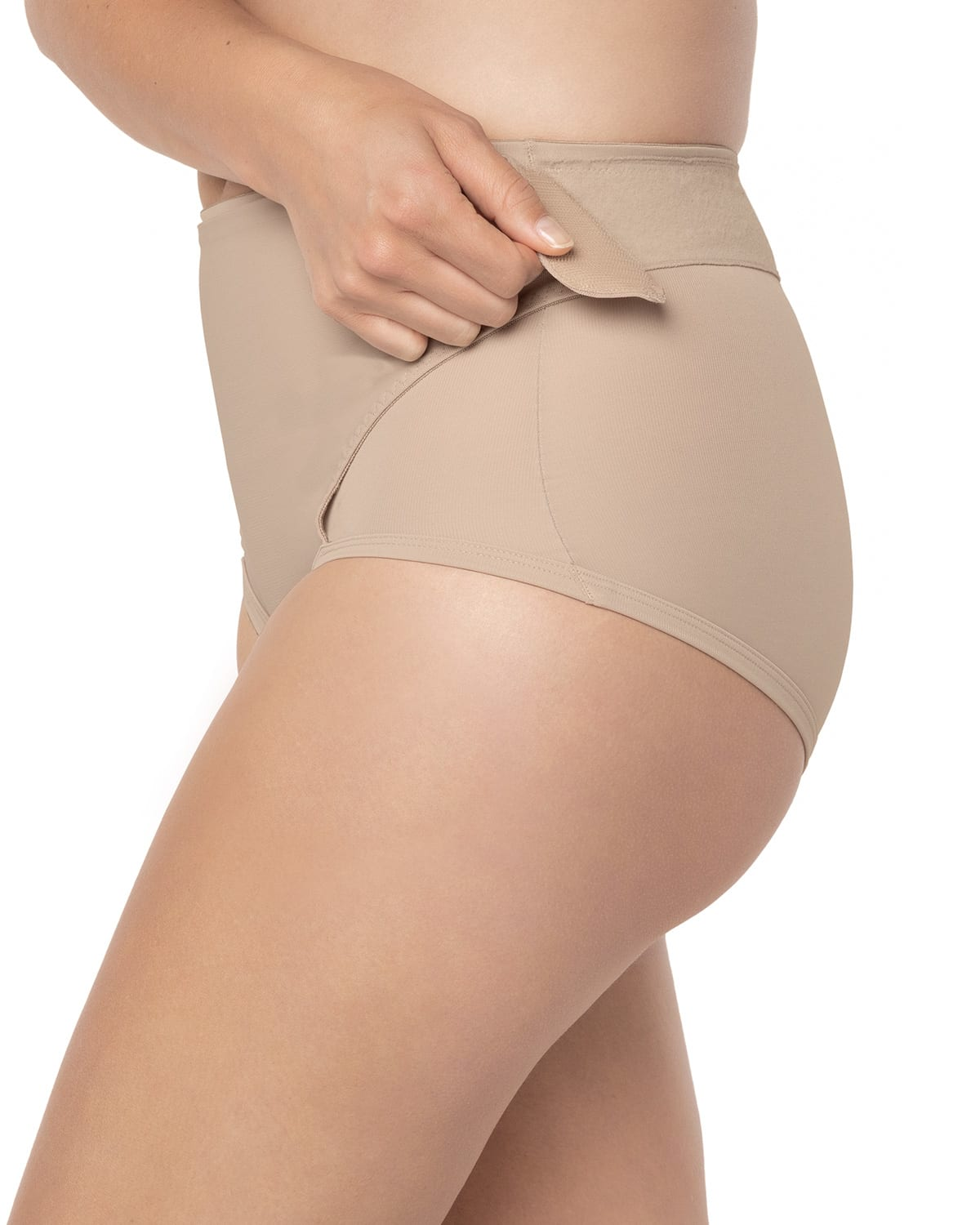 Firm Compression Postpartum Panty with Adjustable Belly Wrap
