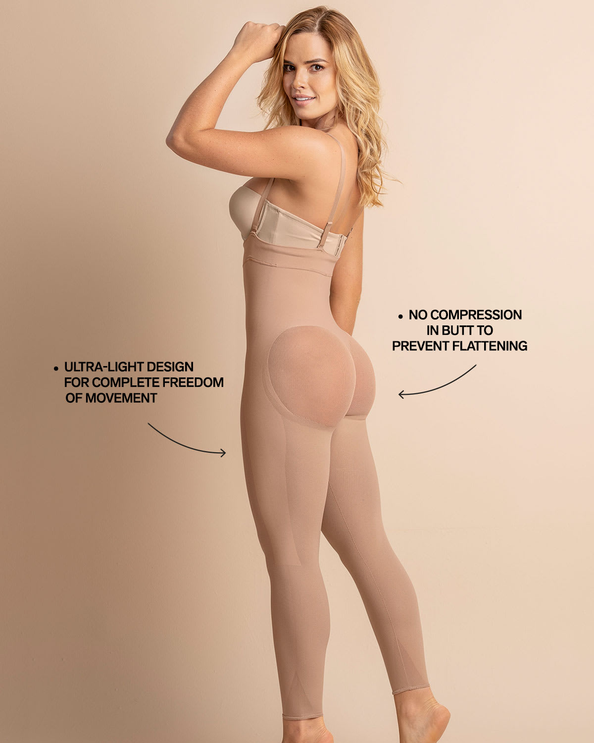 ba5bf11a7 Invisible Body Shaper with Leg Compression and Butt Lifter