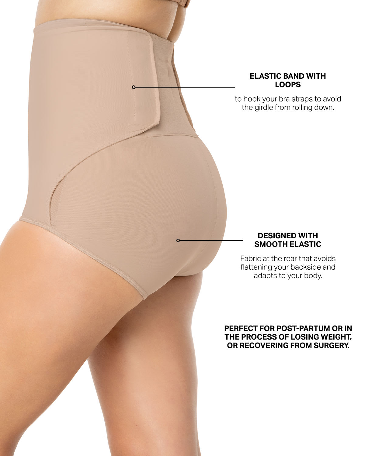 c2b53294240 High-Waisted Firm Tummy Compression Postpartum Panty with Adjustable Belly  Wrap