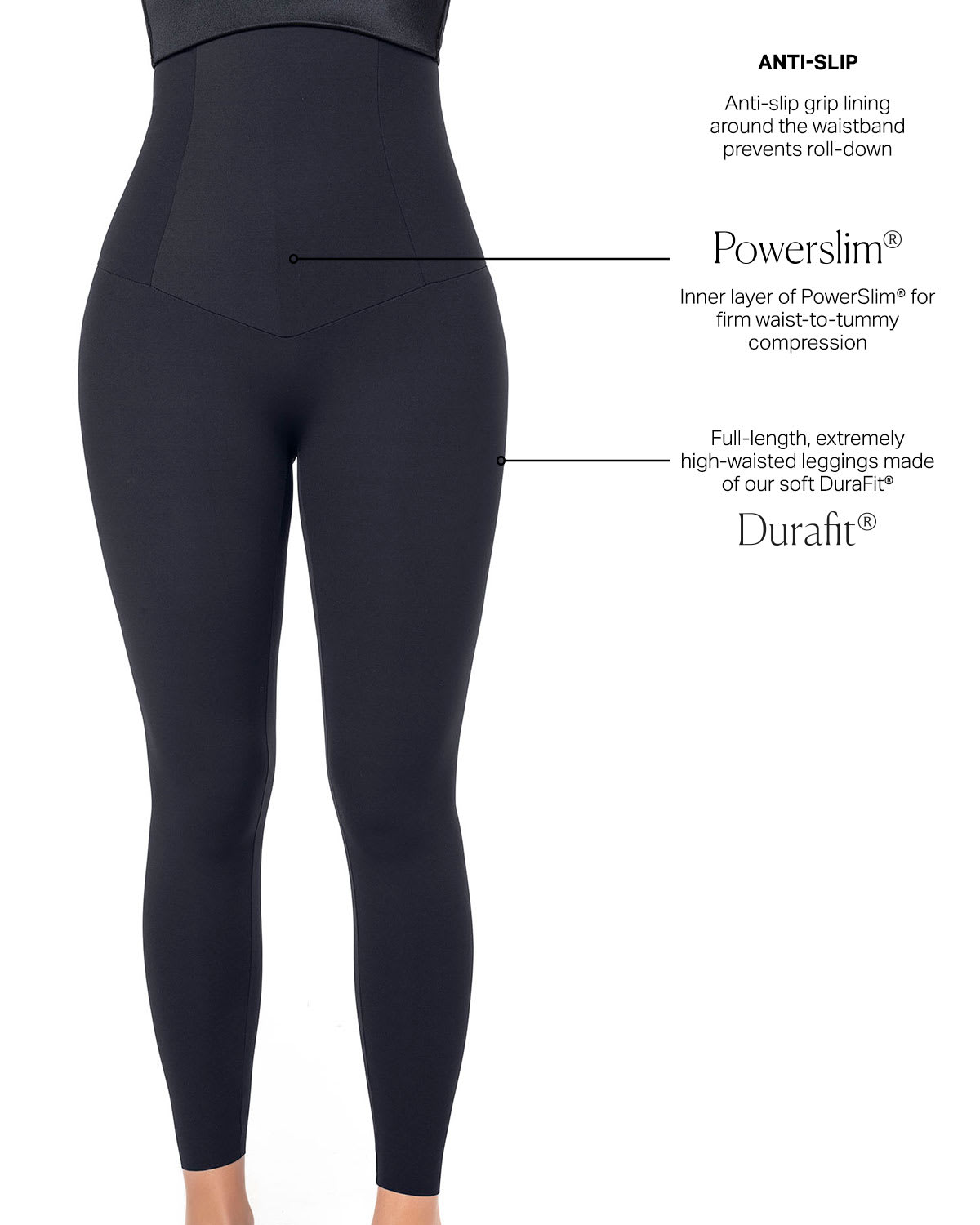 76d09a2e20 Extra High-Waisted Firm Compression Legging - ActiveLife | Leonisa
