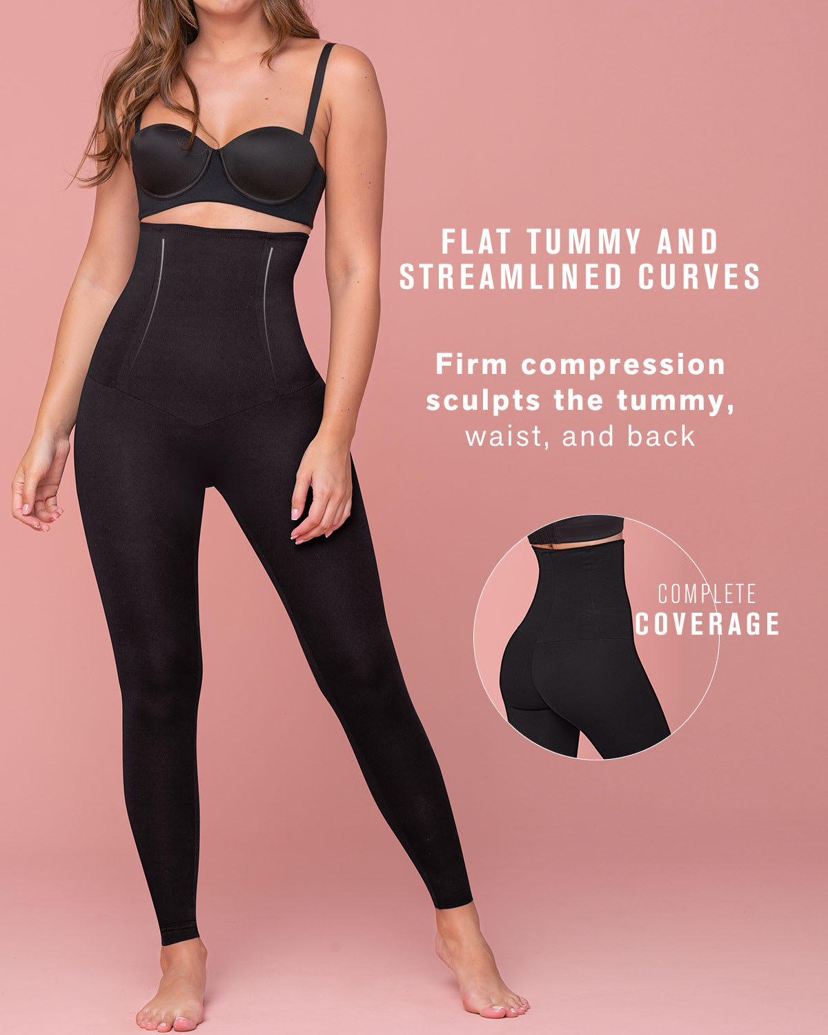 Extra High Waisted Firm Compression Legging Activelife Leonisa
