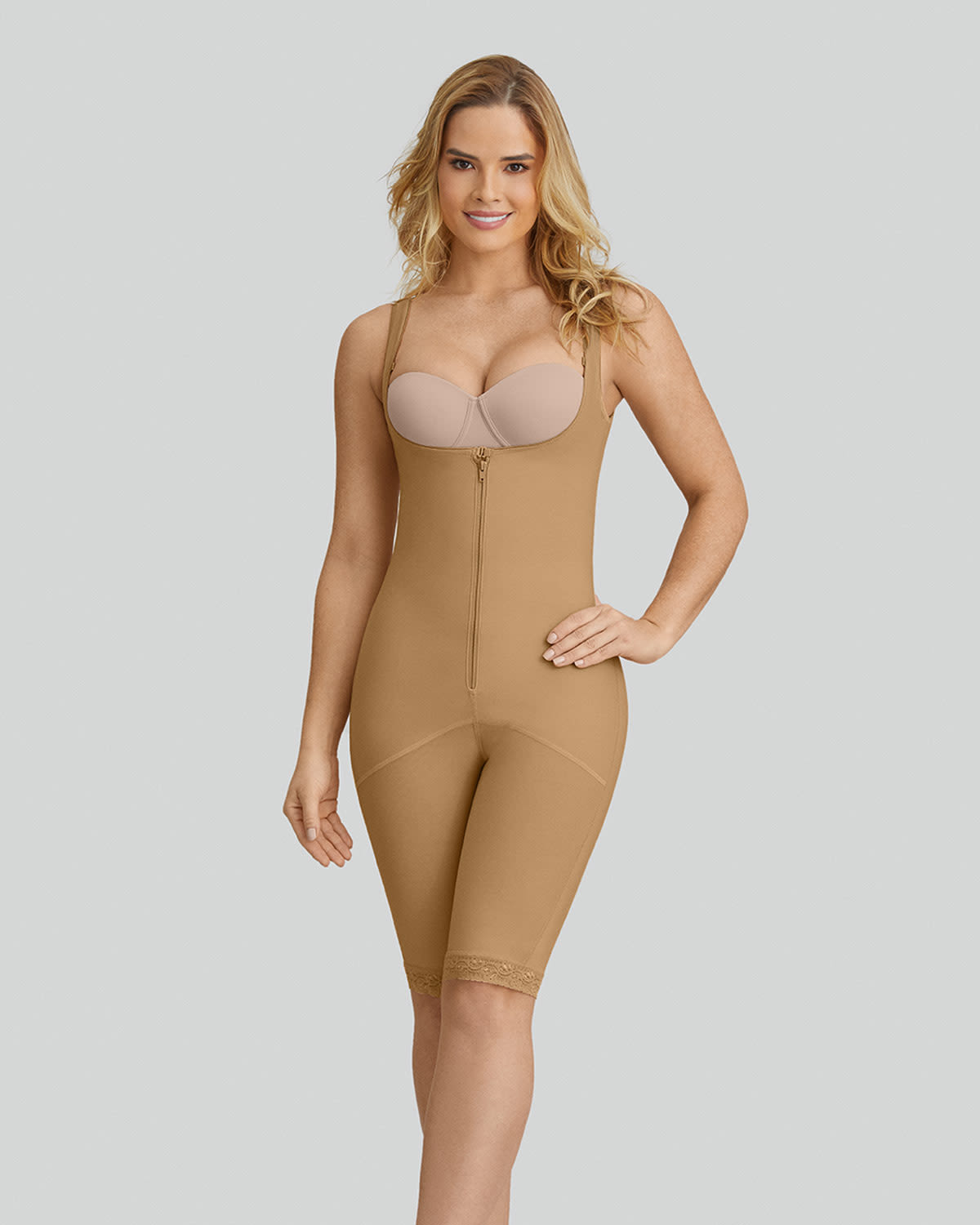 9e2dbe9667f Slimming Braless Body Shaper with Thighs Slimmer