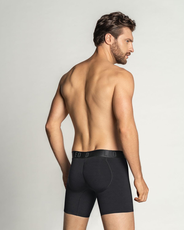 Ww Men's Padded Underwaer Butt Booster Booty Enhancer Molded Pad Boyshort Brief, M Blue