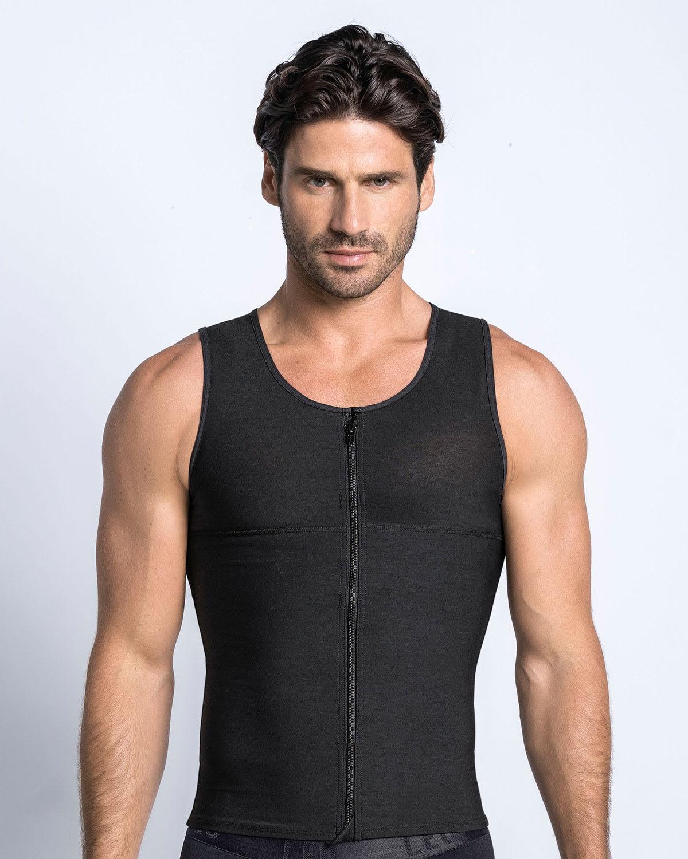 hombres Barriga De Compresión chaleco Camisa Faja reductora de abdominales para