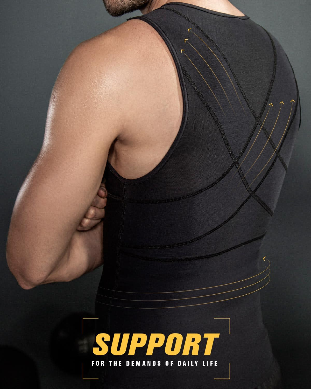 9f48290be Men s Abs Slimming Body Shaper with Back Support