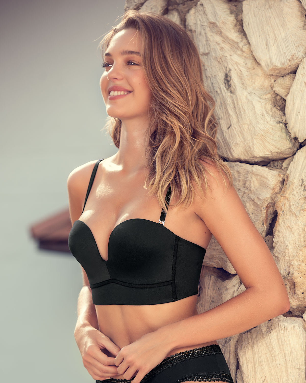 Strapless pushup bra