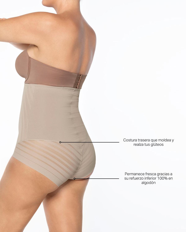 be704841c Panty Faja Busto Libre de Control Fuerte con Encaje en Bandas ...