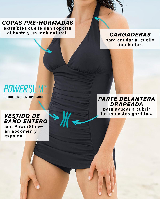 954478501e6d Traje de Baño Entero de Control con Falda Short | Leonisa México