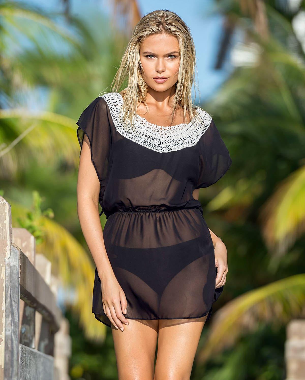 c422b9ca2 Vestido de Playa en Transparencias
