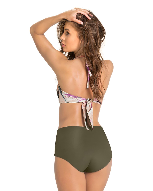 272a76d7575e Bikini Estampado Copa C para Busto Grande, Panty Alto Doble Faz ...