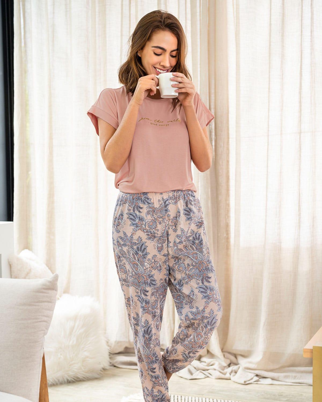 Pantalon Largo De Pijama Para Mujer Estampado Leonisa Colombia