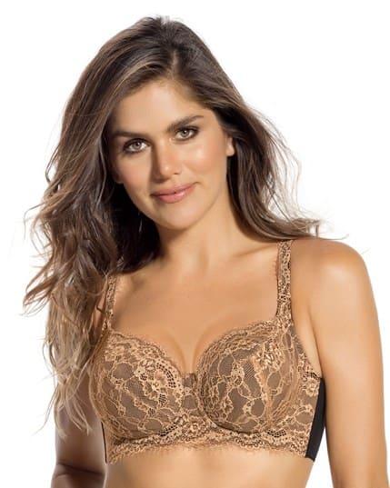 back smoothing lace bra--MainImage