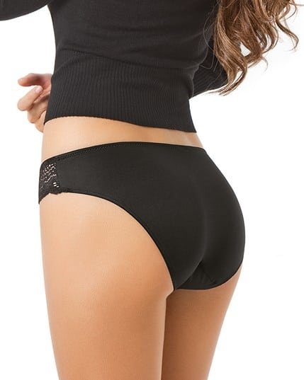 mid-rise lace brief panty with seamless back--MainImage