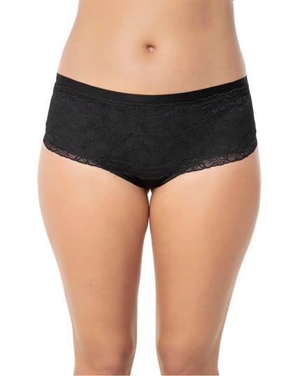 elegante pantaleta con control de abdomen y delicados encajes--MainImage
