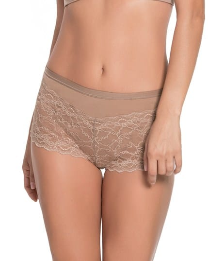 cotton hi-waist knicker with lace--MainImage
