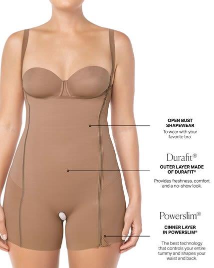body busto libre con control de abdomen realce de gluteos y almohadillas removibles--MainImage
