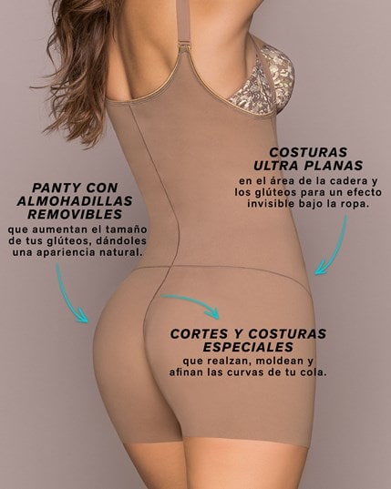 body shaper boyshort with removable pads--MainImage