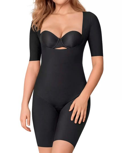 undetectable open bust shorty shaper jumpsuit--MainImage