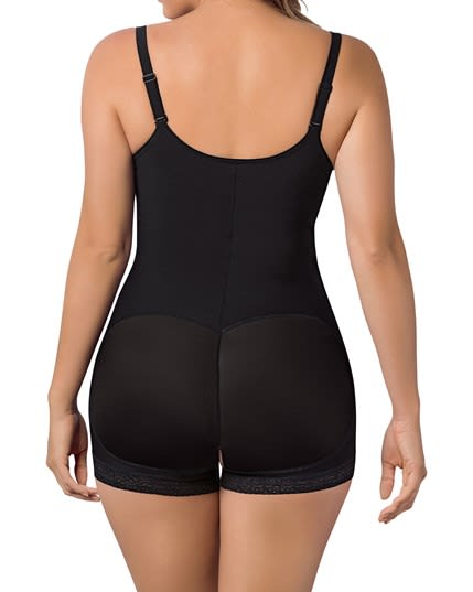 open bust body shaper boyshort with firm tummy compression--MainImage