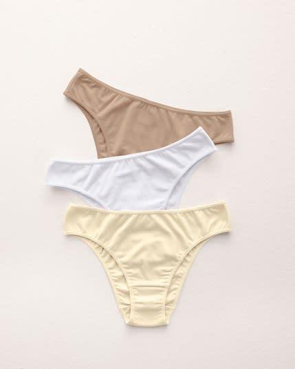 3-pack cotton bikini panty with tummy control--MainImage