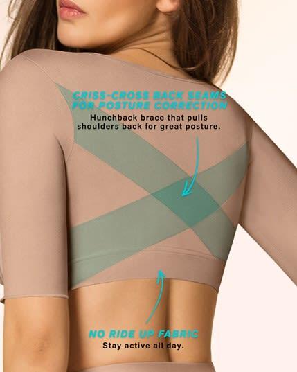 seamless upper arm shaper slimming compression vest with posture corrector--MainImage