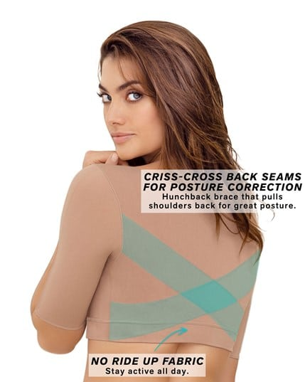 seamless upper arm shaper slimming compression vest with posture corrector--MainImage