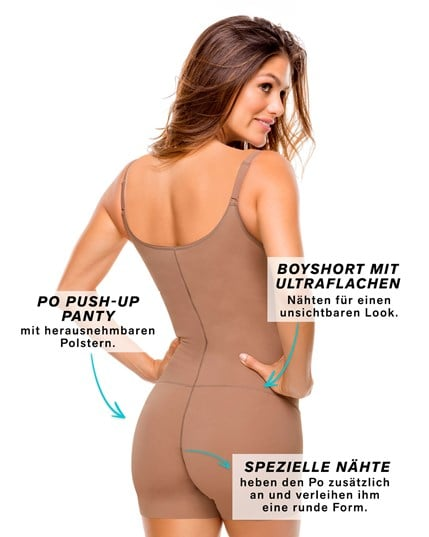 schlankmachender body-shaper mit herausnehmbaren po push-up polstern--MainImage