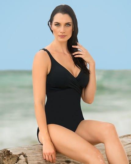 vestido de bano entero con top cruzado y control de abdomen--ImagenPrincipal