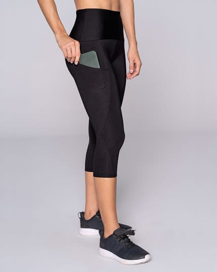 activelife high-waisted shaper side pocket capri legging--MainImage