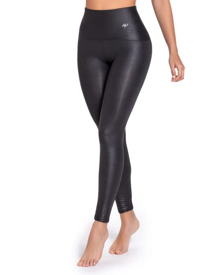 new activelife leather look high-waisted compression legging--MainImage