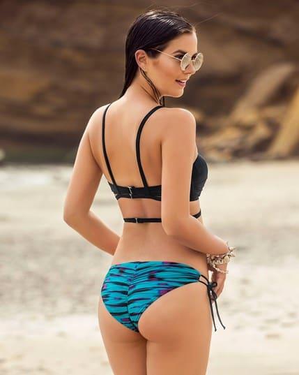 bikini bandeau con accesorio para el escote--MainImage