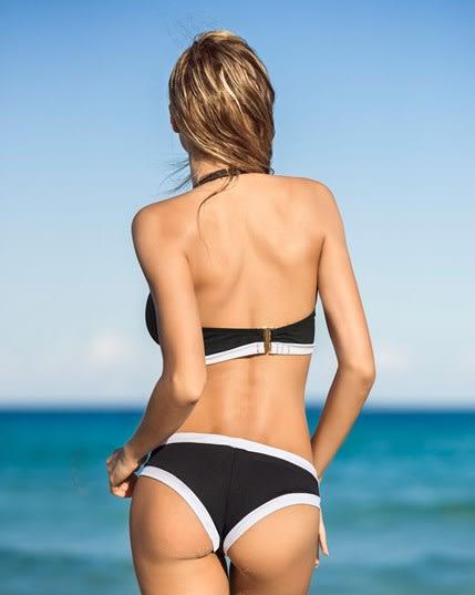 stylischer bikini mit reiverschluss am top--MainImage
