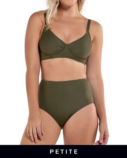 adjustable triangle top bikini with high-waisted reversible bottom--MainImage