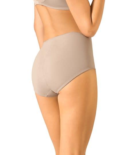 calzon clasico de control suave con toques de encaje en abdomen--MainImage