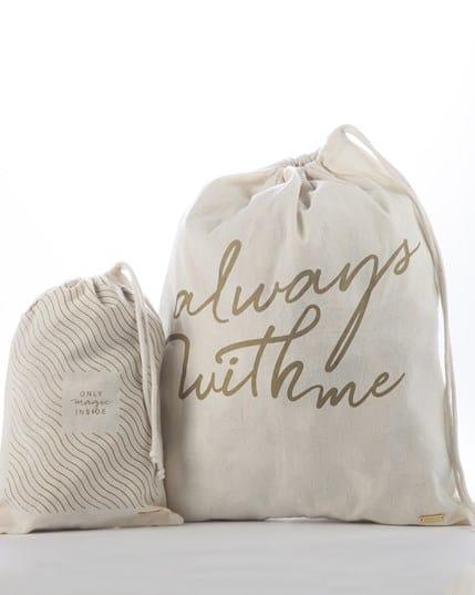 set x 2 bolsas de tela para viajar--MainImage
